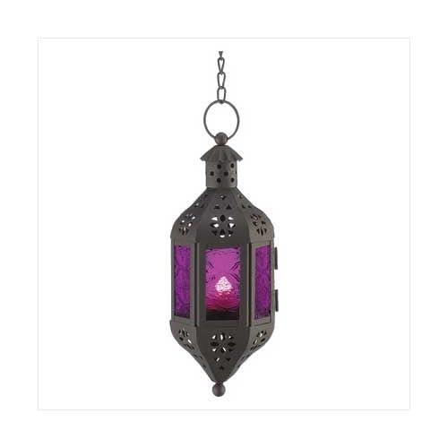 Purple Moroccan Candle Lantern Decorative Candle Lanterns