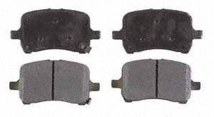 Wagner ThermoQuiet QC1398 Ceramic Disc Pad Set With Installation Hardware Rear