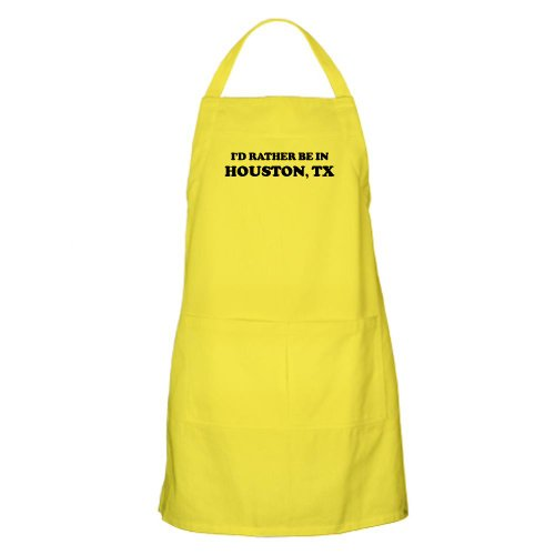Cafepress Rather Be In Houston BBQ Apron - Standard