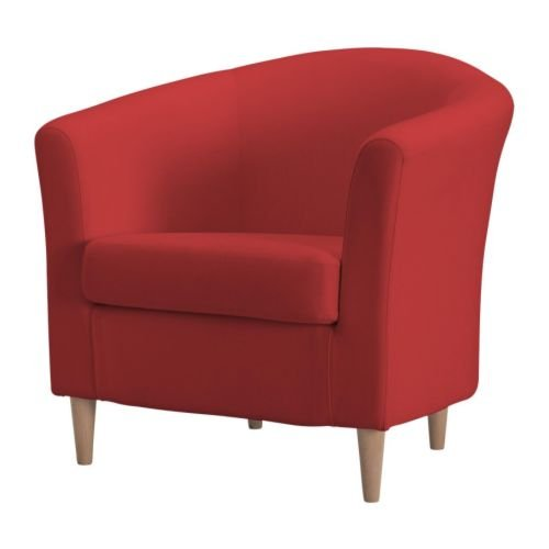 IKEA(イケア) TULLSTA ランスタ レッド 90160739 アームチェア、ランスタ レッド