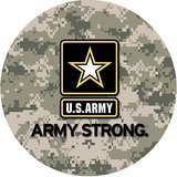 US Army Military Army Strong Personalized Round Mouse Pad (Army Mouse Pad compare prices)