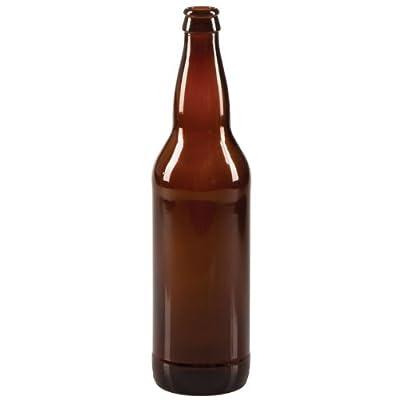 22 oz Beer Bottles- AMBER- Case of 12