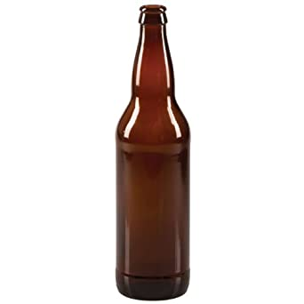 22 oz Beer Bottles- AMBER- Case of 12