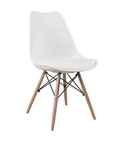 Superstudio stoel set van 2 Wooden Cushy wit