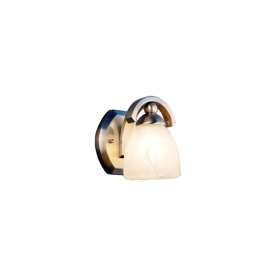 Hampton Bay Wave Collection 1 Light Brushed Nickel Wall Sconce