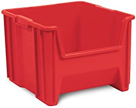 AKRO-MILS Stak-n-Store Poly Bins - 10-78 x17-12 x12-12quot - Red