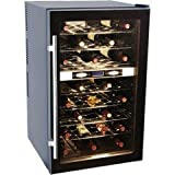 Haier HVTB40DPABS 40-Bottle Thermal-Electric Dual-Zone Wine Cellar ~ Haier