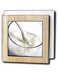 Milk glass, nutrition - LI11 PRI0002 - Prisma - 6 Inch Tile Napkin Holder by 3dRose