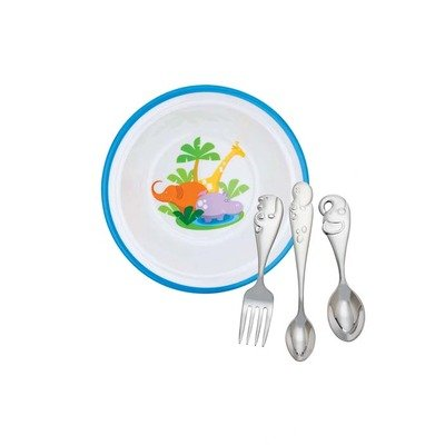 Reed And Barton Jungle Parade Baby Dinner Gift Set