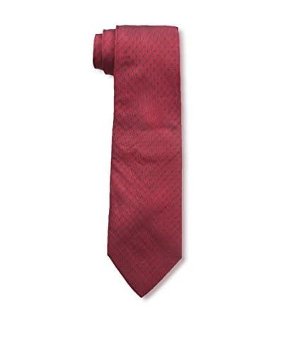 Hermès Men's Pre-Owned Patterned Silk Tie, Red