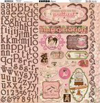 Bo Bunny Press - Little Miss Collection - 12 x 12 Cardstock Stickers - Combo (Bo Bunny Press compare prices)
