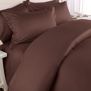 Luxurious DARK BROWN Solid / Plain, QUEEN Size.