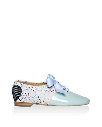 L37 Zapatos de cordones Cielo / Multicolor
