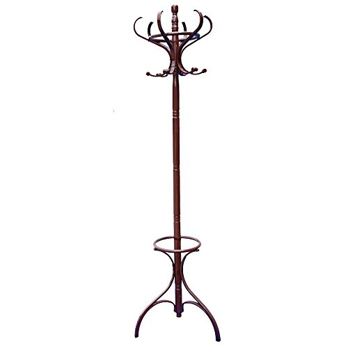 home-discountr-coat-stand-in-mahogany-finish-3-leg-bentwood-solid-wood-coat-hat-umbrella-floor-stand