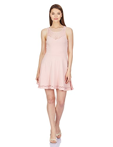 Aéropostale Women's Cotton Skater Dress (Light Pink 696_AE7986696_Small)