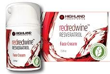 Redredwine Resveratrol Face Cream Highland Laboratories 1.5 Oz Cream