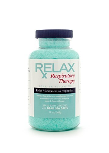 Respiratory Rx Bath Crystals -19 Oz- Therapeutic Natural Mineral Salts & Vitamins - Breath Relief for Spas, Jacuzzi, Whirlpool by Relax Spa & Bath (Therapeutic Whirlpool compare prices)