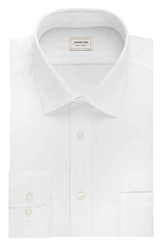Arrow-Mens-Poplin-Athletic-Fit-Solid-Spread-Collar-Dress-Shirt