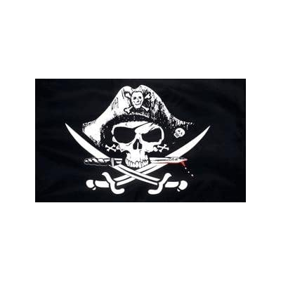 Skull and Sabre Flag 5ft x 3ft