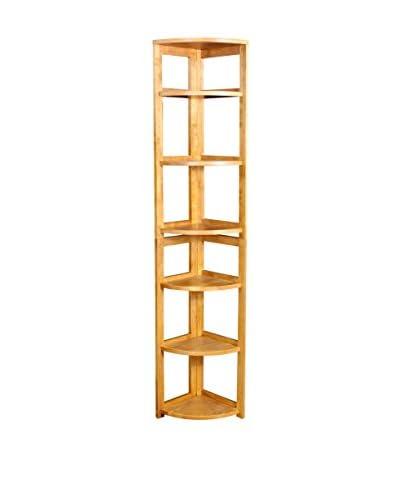Regency High Corner Folding Bookcase, Medium Oak