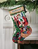 Santa's Delivery Stocking Needlepoint Kit-16 Inch Long