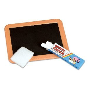Black Board And White Chalk Set (pack of 12)