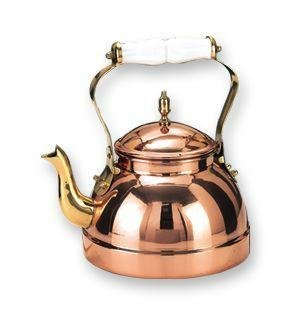 2 Qt Decor Copper Teakettle with Ceramic Handle
