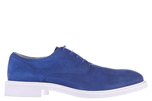 Armani Jeans scarpe stringate classiche uomo in pelle nuove derby blu EU 42 C6787 93 R8