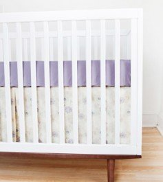 Finn + Emma Flower Crib Set without Bumpers-Girl - 1