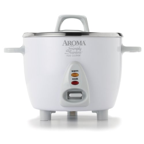 New Aroma ARC-753SG 3-Cup (Uncooked) 6-Cup (Cooked) Simply Stainless Rice Cooker