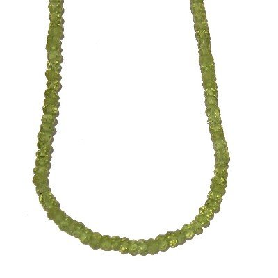 Peridot Necklace 01 Green Faceted Cut Gemstone Crystal Healing 17