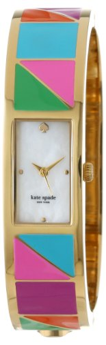 "Kate Spade Watches Women's 1YRU0187 ""Patchwork"" Carousel Gold-Plated Stainless Steel Watch"