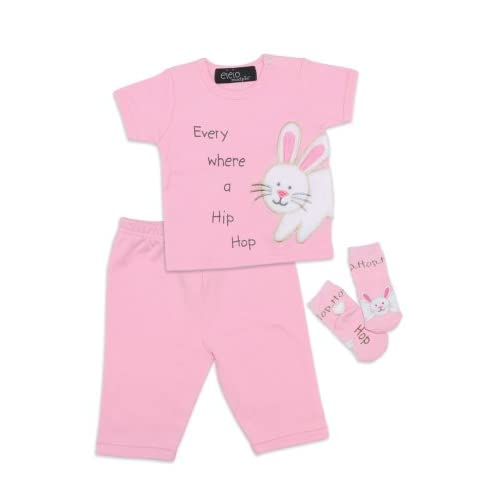 Mud Pie Baby EIEIO Bunny Clothing Set