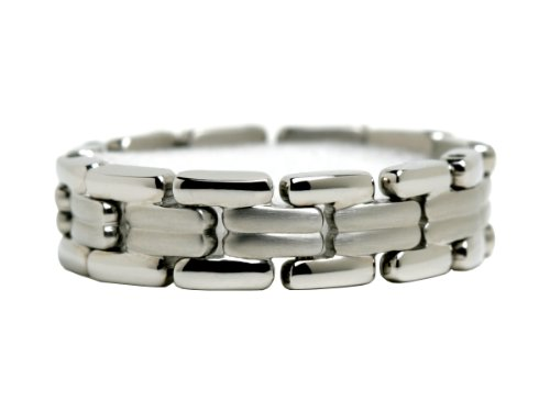 Suemi, Drag, Stainless Steel Unisex Linked Ring, Size 13