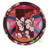 Hawaiian Steering Wheel Cover and Shoulder Pad - Red Hawaii Hibiscus Floral Print