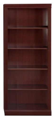 Bush Furniture Saratoga Executive Bookcase, Harvest Cherry
