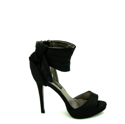 Fresa y chocholate zapato de fiesta con tacón y plataforma para señora 1005 negro-talla 38