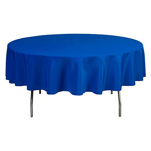 Linentablecloth 90 Inch Round Polyester Tablecloth Royal