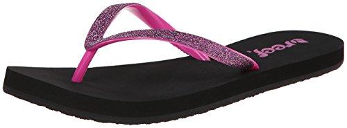 Womens Black Flip Flops front-483871