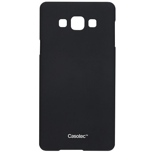 Casotec Ultra Slim Hard Shell Back Case Cover w/ Screen Protector for Samsung Galaxy Grand Max - Black