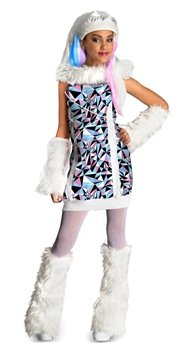 Monster High Abbey Bominable Child Costume Size Medium (8-10)