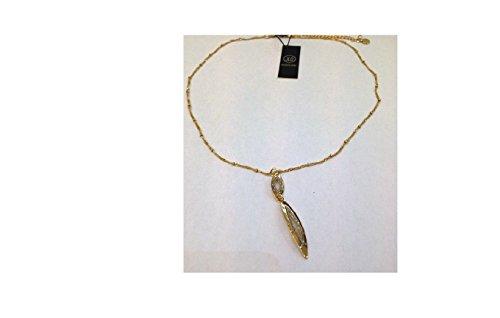 Collana in acciaio dorato JLO by Jennifer Lopez J13GO0314 con glitter