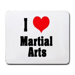 I Love/Heart Martial Arts Mousepad