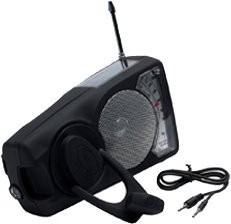 Emergency Crank Radio - Solar Radio Flashlight iPod Player with Weather Band