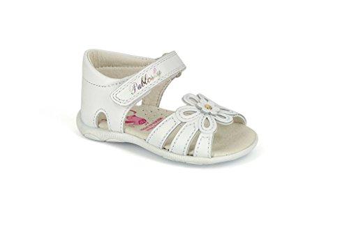 Pablosky Unisex, bambini 79200 Sandali con velcro Bianco Size: 20