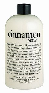 Philosophy Cinnamon Buns Shampoo/Shower Gel/Bubble Bath, 16 Ounces