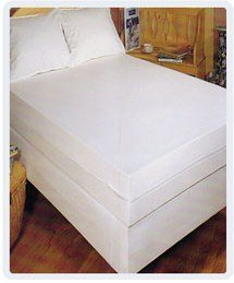 3 Gauge Vinyl Fitted Twin Size Mattress Cover, 9-Inch Deep