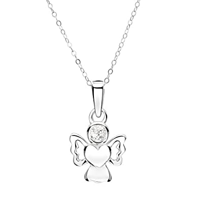 Jo for Girls - April Birthstone Angel - Simulated Diamond