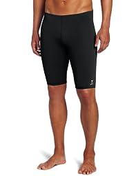TYR  Men's Solid Durafast Jammer Swim Suit (Black, 34)
