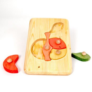 Picture of Fun Apple Peg Puzzle (B002LD7H2S) (Pegged Puzzles)